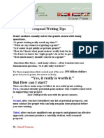 Proposal Writing Tips (Eng)