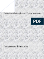 Investment Principles and Equity Valuation