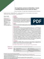 El precondicionamiento isquémico preserva la distrofina a través