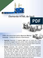Elemente HTML de bază