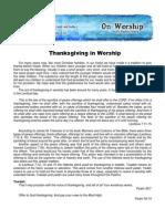 Thanksgiving in Worship