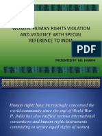 Human rights Violation and Violence against Women