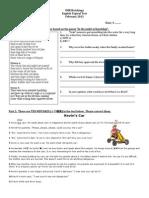 Form 4 English Exam
