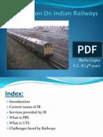 Presentation on Indian Railways-03