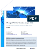 Managed Print Services Landscape, 2013