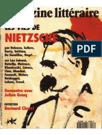 Magazine Littéraire 1992 04 298 Les Vies De Nietzsche Partie 01