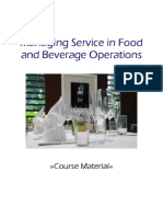 Managing Service in Food and Beverage Operations 50