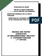 Recueil Des Textes Hygiene Publique