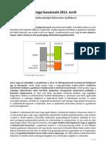 Pénzügyi beszámoló 2012