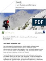 Social Media 2012 - Trends in Marketing Und Marktforschung