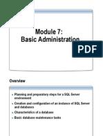 Module 7 Basic Administration