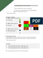 A document about Colours