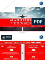 Advertising package for Airlines companies