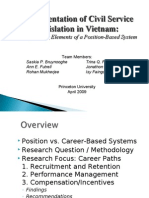 2009-04-01 Implementation of Civil Service Legislation in Vietnam