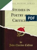 Studies in Poetry & Criticism