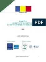 ENQUETE DE SECURITE ALIMENTAIRE ET DE VULNERABILITE STRUCTURELLE (2009)