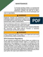 Mercury Maintenance Manual
