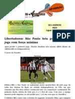 Libertadores São Paulo luta por vaga; Flu joga com força máxima