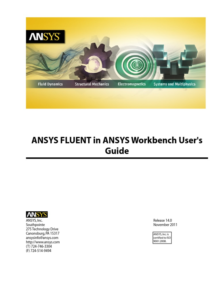 Ansys Fluent 14.0: Workbench Guide | Graphical User Interfaces | Trademark