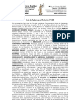 Acta de Mediación Atalaya Cúcuta Colombia