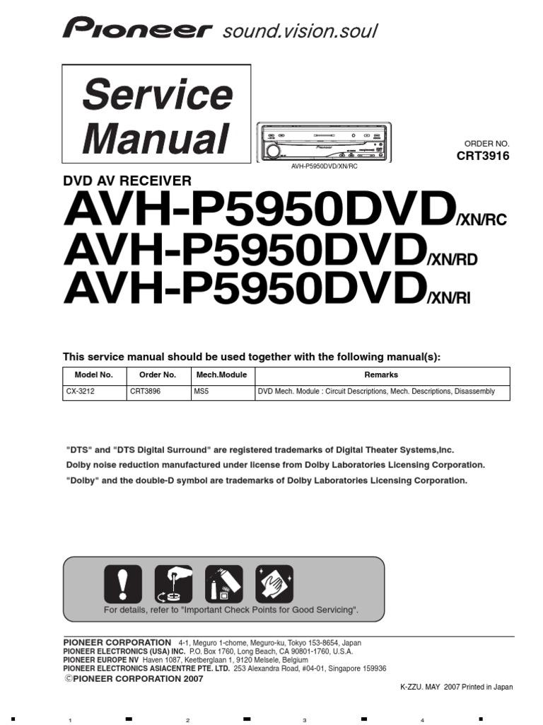 pioneer avh p5950dvd crt3916 electrical connector solder rh scribd com Pioneer Man Working Pioneer Spec 2 Parts