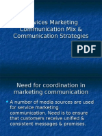 Services Marketing Communication Mix