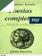 Kavafis, Konstantino - Poesía completa.pdf