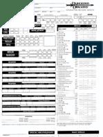 Wizard - DnD character sheet