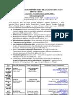 Tableau. Activites - POLOGNE 2008-09-1
