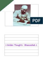Golden Thoughts - Bhaoosaheb