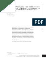 La Antroopologia y El Estudio de La Politica Publica Cris Shore en Castellano (1)
