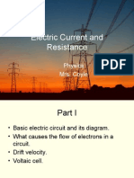 1 Electric Current and Resistance