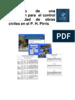 Desarrollo de Una Aplicacion Para El Control de Calidad de Obras Civiles