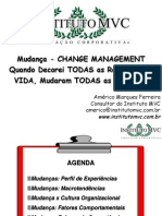 Mudança - CHANGE MANAGEMENT