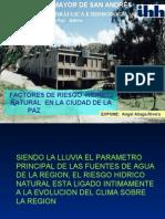 Factores de Riesgo Hidrico en la ciudad de La Paz