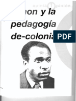 Fanon y  la pedagogía de-colonial.