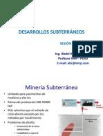 4. 2. DESARROLLOS SUBTERRÁNEOS