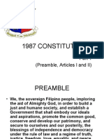1987 Philippine Constitution - Art I and II