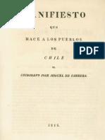 Manifiesto Que Hace a Los Pueblos de Chile El Ciudadano Jose Miguel de Carrera - Jose Miguel Carrera