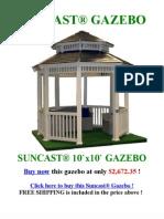 Suncast Gazebo - Suncast 10' x 10' Gazebo