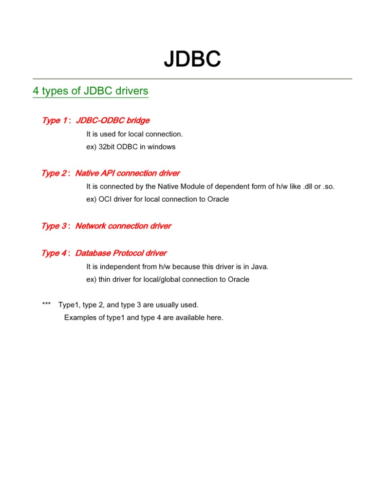 JDBC pdf | Computing Platforms | Data