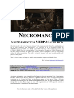 MERP (Fan-Made) - Necromancy. a Supplement for MERP