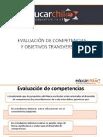Evaluación de competencias y contenidos transversales