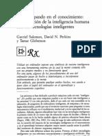 Coparticipación en el conocimiento. Salomon, Perkins, Goblerson