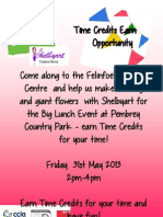 Big Lunch - Craft session - earn Time Credits
