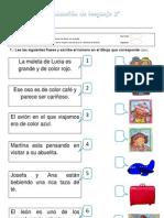 Evaluación de lenguaje 2º