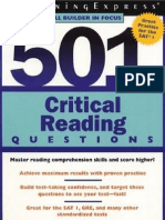 501 Critical Reading Questions مهههههههههههههههههههه
