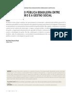 Paula, Ana Paula Paes. Administraçao Publica Brasileira entre o Gerencialismo e a Gestao Social