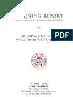 Swaraj Training Report
