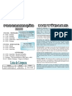 Programação Maio 13